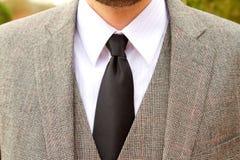Tweed Plaid Wedding Suit Royalty Free Stock Image