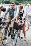 Tweed przejażdżki para Fotografia Stock