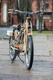 Tweed ride 2017. Here you can look  at an old BMW brand of motor bike. Royalty Free Stock Images