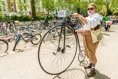 Tweed Run London 2016. royalty free stock photo