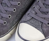 Tweed sneakers Stock Image