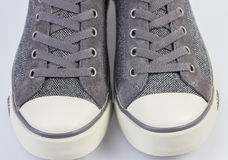 Tweed sneakers Royalty Free Stock Image