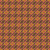 Tweed Texture in Orange Stock Image
