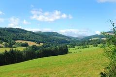 Tweed valley near Fairnilee. Looking westwards up Tweed valley towards Fairnilee Royalty Free Stock Photo