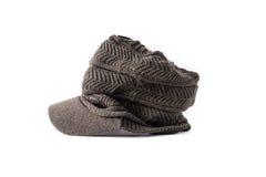 Tweed wiadomości chłopiec kapeluszu styl Odizolowywający Obraz Royalty Free