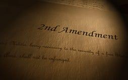 Tweede Amendementtekst stock fotografie