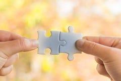 Tweede Hand Verbonden Puzzel, stock foto