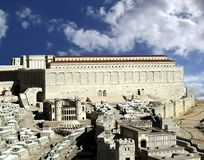 Tweede Tempel. Oud Jeruzalem Royalty-vrije Stock Afbeeldingen