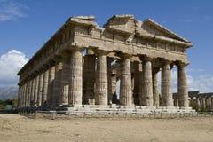 Tweede Tempel van Hera - Paestum Italië Royalty-vrije Stock Afbeeldingen