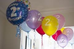 Tweede Verjaardagsballons Royalty-vrije Stock Foto's