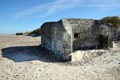 Tweede wereldoorlog bunke Royalty-vrije Stock Foto's