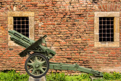 Tweede Wereldoorlog Duits kanon SIG 33 stock fotografie