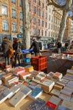 Tweedehandse boekhandelaars van Quais DE Saone Royalty-vrije Stock Foto's