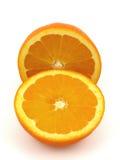 Tweedelig van Oranje fruit Stock Foto's