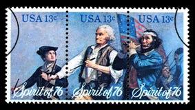 Tweehonderdjarige Postzegel Stock Fotografie
