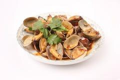 Tweekleppige schelpdieren Shell in Chili Paste Stock Foto's