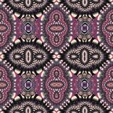 Tweekleurig fabelachtig naadloos patroon U kunt het voor invitatio gebruiken Stock Foto
