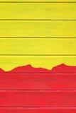 Tweekleurig Geel Rood Hout die Textuurachtergrond met Abstra Commissie Royalty-vrije Stock Afbeelding