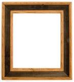 Tweekleurig houten frame Stock Foto's