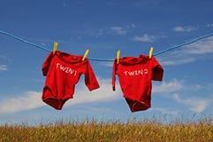 Tweeling één en tweeling twee Stock Foto