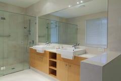 Tweeling badkamers royalty-vrije stock afbeelding