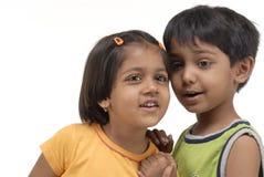 Tweeling broer en zuster Stock Afbeelding