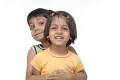 Tweeling broer en zuster Royalty-vrije Stock Foto's