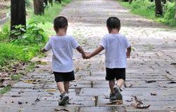Tweeling broers royalty-vrije stock foto