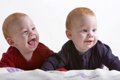 Tweeling broers Stock Afbeeldingen