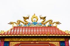 Tweeling Draak op dak Royalty-vrije Stock Foto