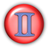 Tweeling Glyphs Royalty-vrije Stock Afbeelding