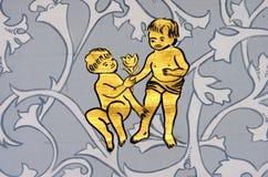 Tweeling het teken van de tweelingendierenriem Royalty-vrije Stock Afbeelding