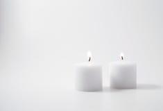 Tweeling kaarsen Royalty-vrije Stock Fotografie