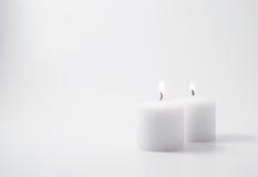Tweeling kaarsen Stock Foto's
