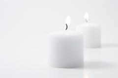 Tweeling kaarsen Royalty-vrije Stock Foto