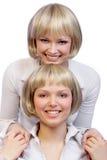Tweeling meisjes Stock Foto's