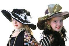 Tweeling modellen op wit Royalty-vrije Stock Foto's
