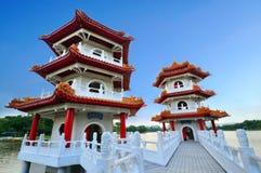 Tweeling pagode Royalty-vrije Stock Afbeelding
