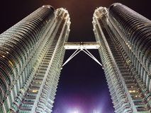Tweeling toren Stock Foto's