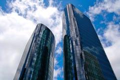 Tweeling torens Stock Fotografie