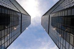 Tweeling Torens Stock Foto