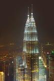 Tweeling torens in Kuala Lumpur (Maleisië) Stock Afbeelding