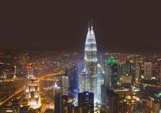 Tweeling torens in Kuala Lumpur (Maleisië) Royalty-vrije Stock Afbeelding