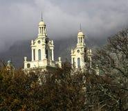 Tweeling torenspitsen die uit piepen Royalty-vrije Stock Foto