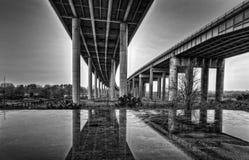 Tweeling Viaducten Royalty-vrije Stock Foto's