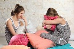 Tweeling zusters Stock Foto
