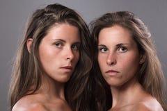 Tweeling zusters Royalty-vrije Stock Fotografie