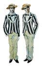 Tweelingbroers van de waterverf retro illustratie Royalty-vrije Stock Afbeelding