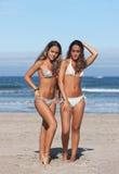 Tweelingen in het strand Stock Fotografie