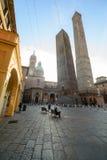 Tweelingentoren in Bologna Royalty-vrije Stock Afbeeldingen